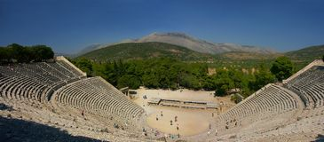 forntida grekisk teater Arkivfoton