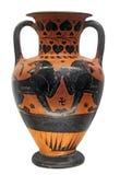 forntida grekisk vase för lions två arkivbild