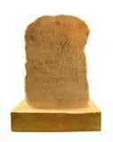 Forntida grekisk writing på stenen arkivbild