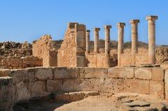 Forntida grekiska kolonner Royaltyfria Bilder
