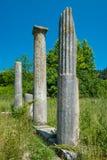 forntida grekiska pelare Arkivfoto