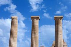 forntida grekiska pelare Royaltyfri Fotografi