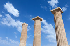forntida grekiska pelare Fotografering för Bildbyråer