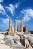forntida grekiska pelare Arkivbild