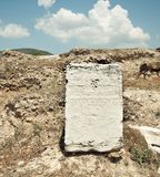 Forntida grekiska plattor med Arkivbild
