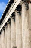 forntida grekiskt hephaestustempel Royaltyfri Foto