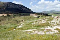 Forntida grekiskt tempel av Venus Arkivfoto