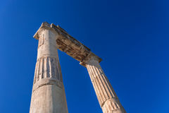 Forntida Grekland, Kos ö, forntida marknadsplats (marknaden) Royaltyfria Bilder