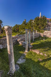 Forntida Grekland, Kos ö, forntida marknadsplats (marknaden) Royaltyfri Bild