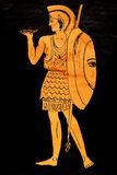 Forntida Grekland krigare Royaltyfria Bilder