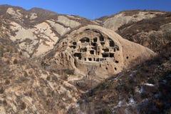 Forntida grottabosättning Royaltyfria Foton