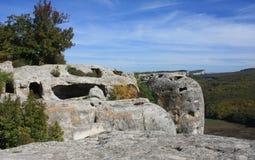 forntida grottastad Royaltyfri Foto