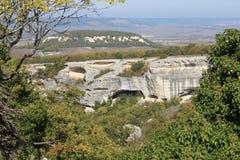 forntida grottastad Arkivfoton