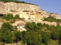 forntida grottastad Royaltyfria Bilder