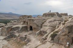 Forntida grottastad av Uplistsikhe, Georgia royaltyfri fotografi