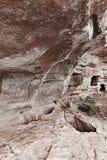 Forntida grottastad/stad av Crimean Tatar - Chufut-grönkål, Mangup-grönkål, Bakhchisaray Historiskt fördärvar och det fantastiska Arkivbild