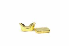 Forntida guld- guldtacka för traditionell kines Arkivbild