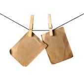forntida hängande paper fotostift Royaltyfri Bild