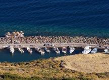 Forntida hamn i Assos (Behramkale) Royaltyfria Foton