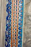 Forntida handgjorda turktegelplattor f?r ottoman arkivbild