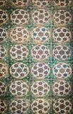 Forntida handgjorda turktegelplattor f?r ottoman fotografering för bildbyråer