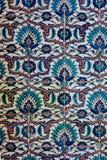 Forntida handgjorda turktegelplattor f?r ottoman royaltyfri fotografi