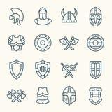 Forntida harnesksymboler stock illustrationer