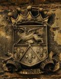 Forntida heraldiskt emblem Arkivbild
