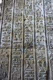 Forntida hieroglyfer på väggen royaltyfri bild