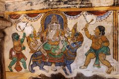 Forntida hinduisk andlig begreppsmålning Arkivfoton