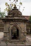 Forntida hinduisk gudinnatempel Nepal Fotografering för Bildbyråer