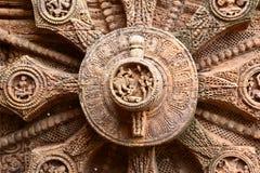Forntida hinduisk tempel på Konark (Indien) Royaltyfri Bild