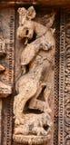 Forntida hinduisk tempel på Konark (Indien) Arkivbilder