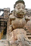 Forntida hinduisk tempel på Konark (Indien) Arkivfoto