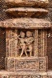 Forntida hinduisk tempel på Konark (Indien) Fotografering för Bildbyråer