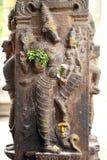Forntida hinduiska stencarvings Royaltyfri Bild