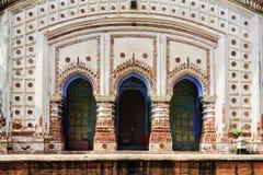 Forntida hinduiska terrakottatempel av dyrkan av Bengal med kopian Royaltyfri Bild