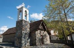 Forntida historisk kyrka av helgonet Sotiros i Cypern Arkivfoton