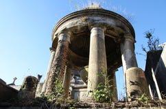 Gammal historisk kyrkogård Recoleta. Buenos Aires Argentina. Arkivfoton