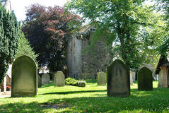 Forntida historisk kyrkoherdepele eller tornhus i Corbridge Royaltyfria Bilder