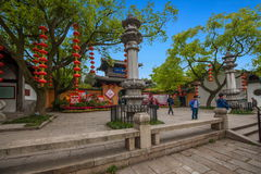 Forntida Huashan port och sten Jing Building av Huishan den forntida staden in Arkivfoton