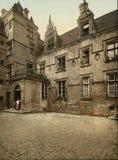 Forntida hus av XVI århundradet, Caen, Frankrike Royaltyfri Fotografi