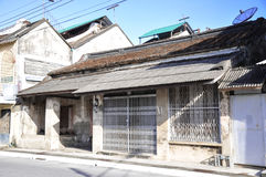 Forntida hus, gamla typiska hus arkivbild