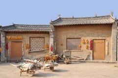 Forntida hus i nordliga Kina Fotografering för Bildbyråer