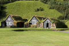 Forntida hus i Island. Royaltyfria Bilder