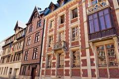 Forntida hus i Rouen Royaltyfri Bild