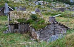 forntida hus newfoundland Arkivbilder