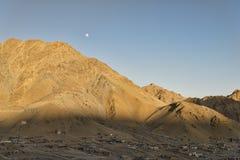 Forntida by i berg Arkivfoton