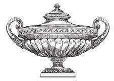 Forntida illustration för teckning för vasvektorhand Arkivbild