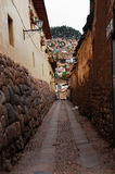 forntida inca för gränd royaltyfri fotografi